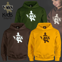 Vass Childrens Fishing Hoody - Choc Brow