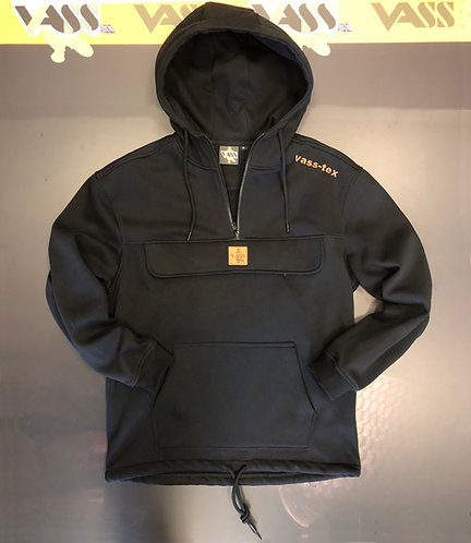 Vass Smock Hoodie with Zipped Chest Pocket