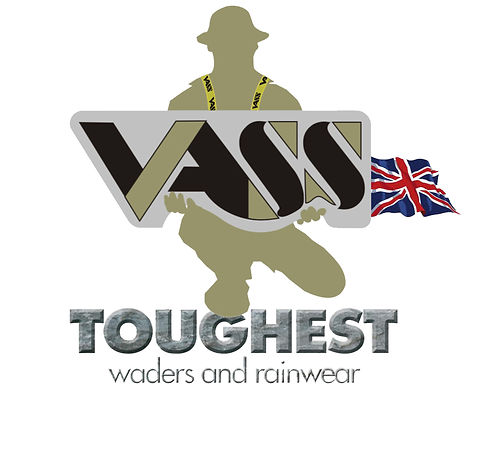 Vass Fishing Logo with yellow braces inc