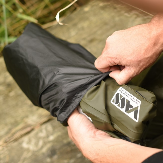 Vass Stow Bag for Waterproofs Black vg21