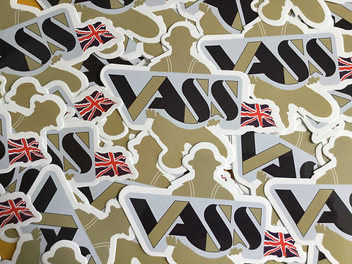 Vass Tackle Box Sticker x 2