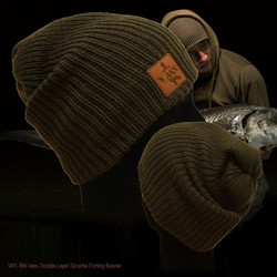 Vass double layer slouch fishing beanie.