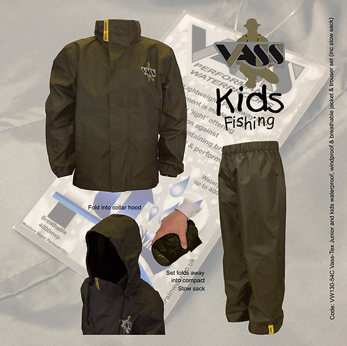 Vass Kids Jacket & Trouser set (lightweight & waterproof breathable)