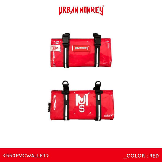 550 PVC WALLET RED