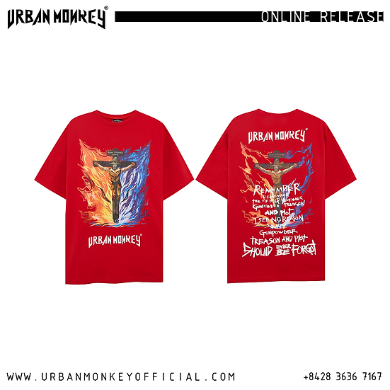 GUY FAWKES TEE RED