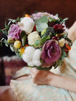 Veggie Bridal Bouquet