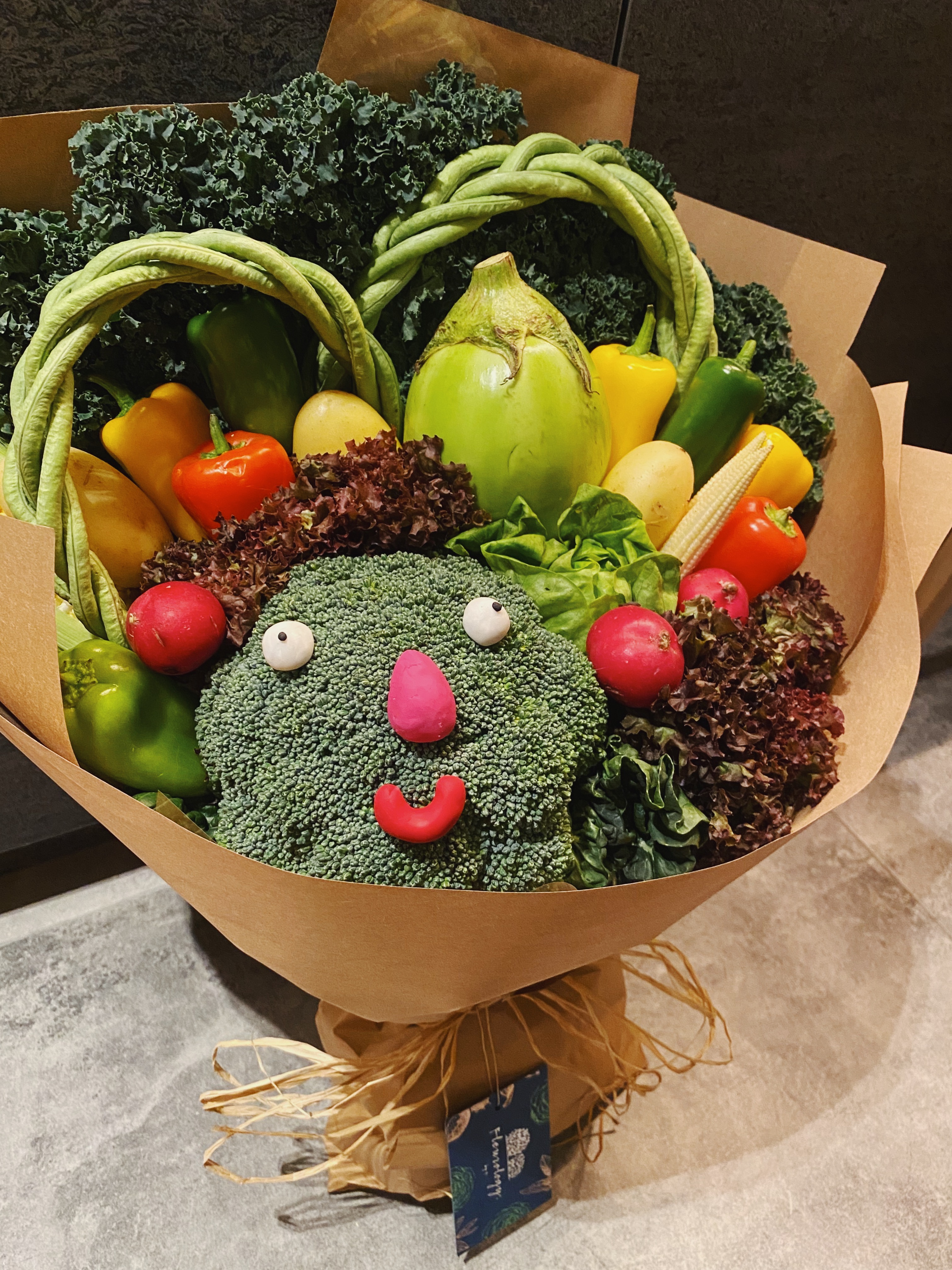 Happy Broccoli Bouquet