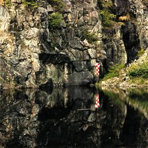 Paysage étalonné, mine abandonnée près de Black Lake, QUébec, 1996