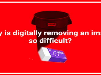 Why is digitally removing an object from a moving image so difficult?