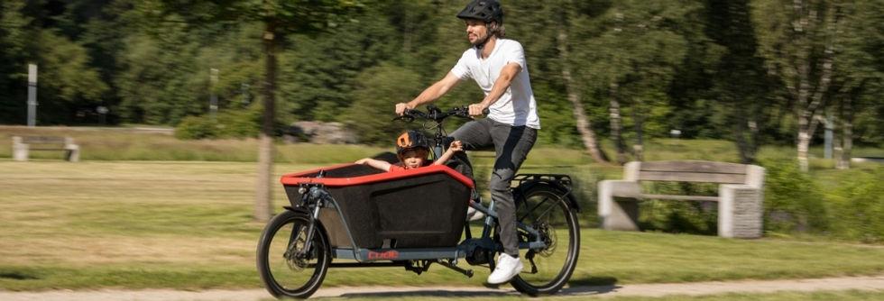 fietsen - bakfiets - cube hybrid