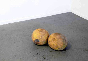 Heavy Balls, 2005-2017 Rubber and sand. Dimensions Variable
