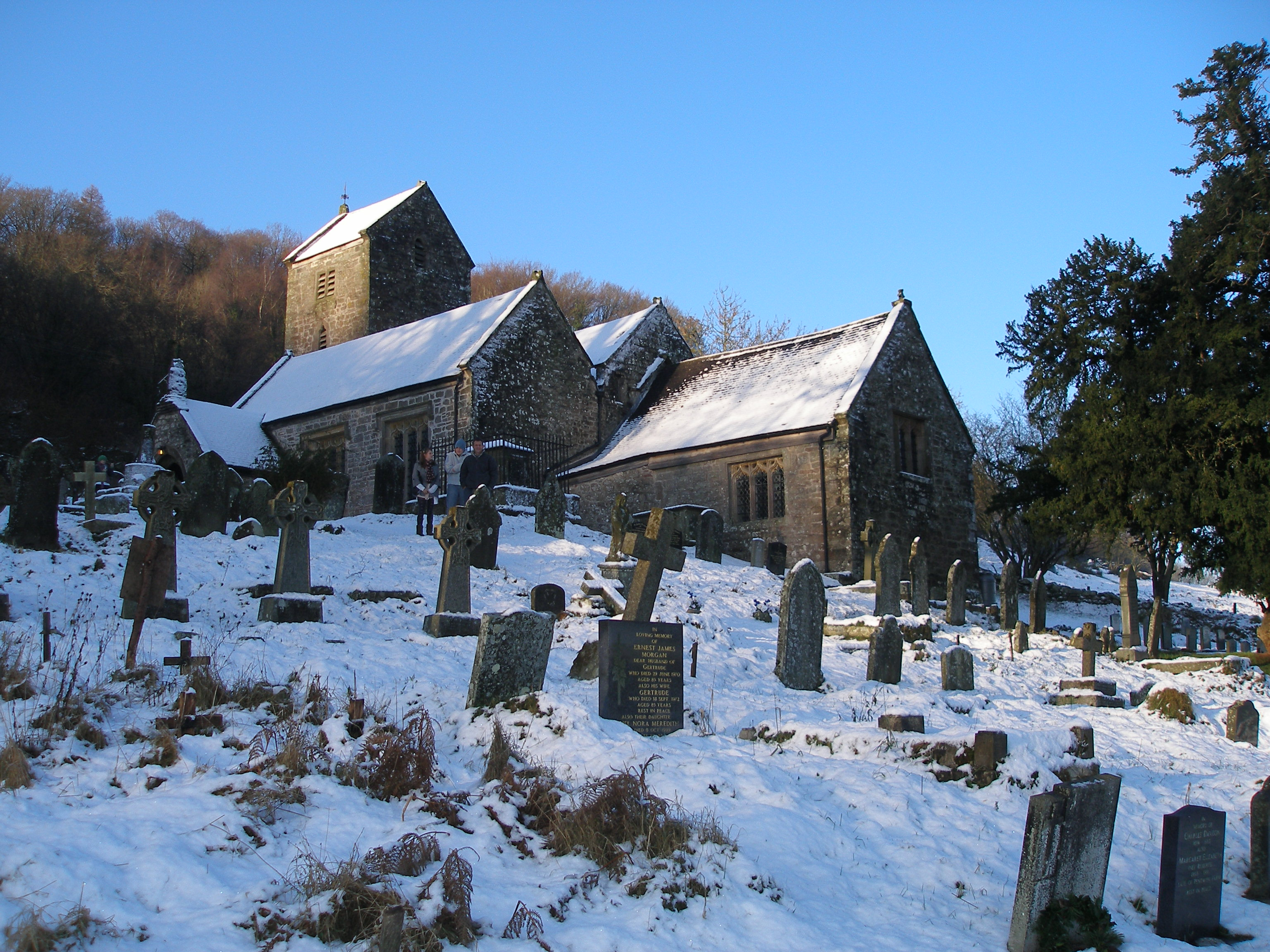 Penallt Old Church in snow