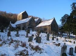 Penallt Old Church in snow