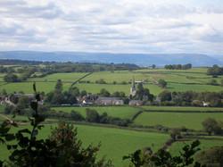 Trellech, Brecon Beacons in distance