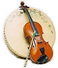 fiddle whistle and bodhran
