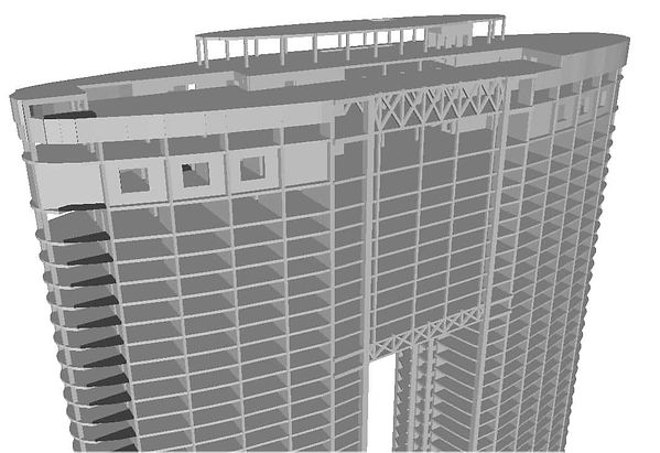 Tower structural CAD Model (Close Up)