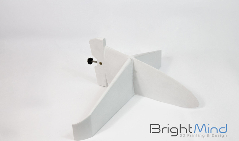 3D Printed Surfboard Fin - top view.jpg