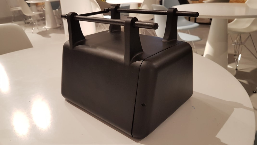 3D Printed Drone Cargo Box Side View 2.j