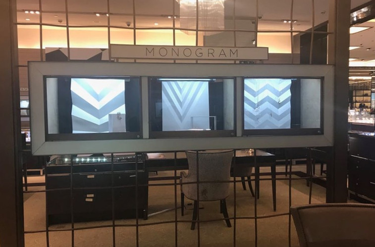 Monogram Jewelry Display