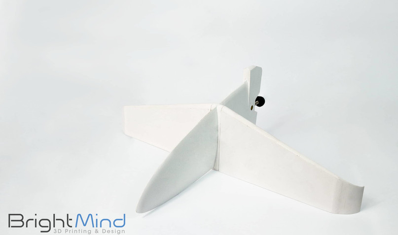 3D Printed Surfboard Fin - top view 2.jp