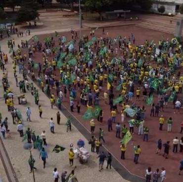 Goiás teve protestos a favor do Presidente Bolsonaro