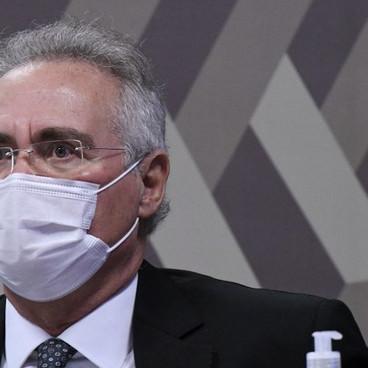 Flavio Bolsonaro chama Renan Calheiros de vagabundo durante CPI; veja o vídeo