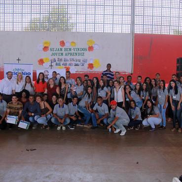 Solenidade marca a certificação de 60 jovens do Programa Jovem Cidadão em Águas Lindas de Goiás