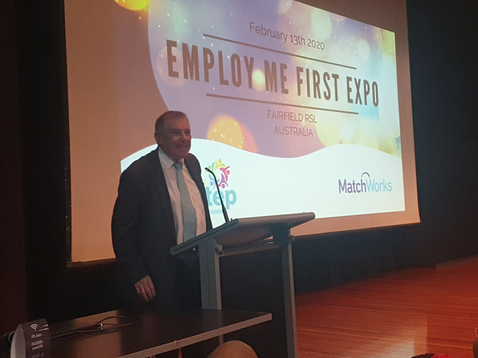 CEO John Gilmore at Employ Me First Expo