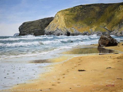 """A Stroll Along Watergate Bay"" - SOLD"
