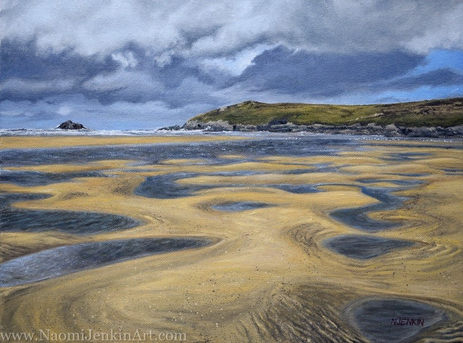 """""""Low Tide At Crantock"""" - AVAILABLE"""