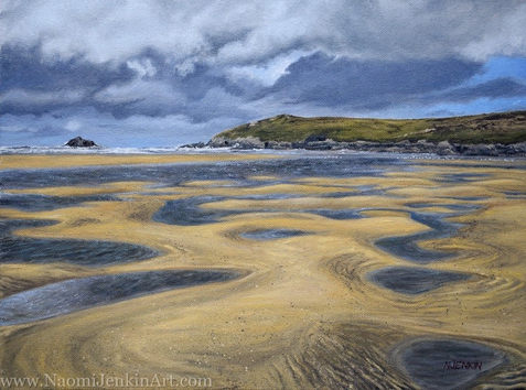 """Low Tide At Crantock"" - AVAILABLE"