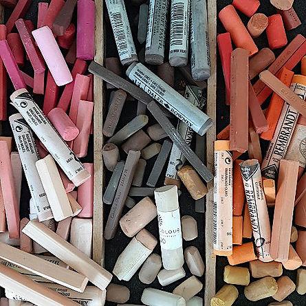 Chalk pastels - Unison, Rembrandt, Conte A Paris, Faber Castell, Daler Rowney