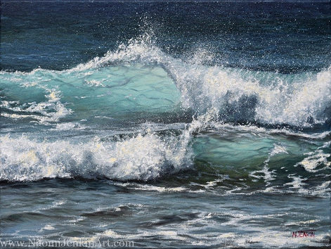 """""""Sunlit Surf"""" - SOLD"""