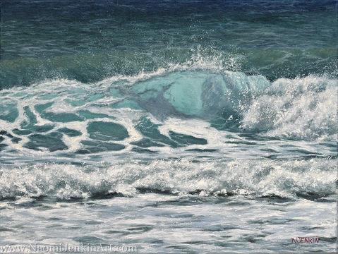 """Sunlit Shorebreak"" - SOLD"