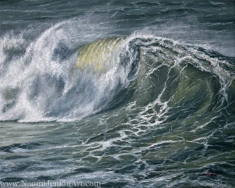 """""""Swirls of Ocean Jade"""" - SOLD"""
