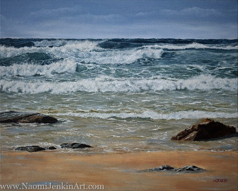 """Blustery day at Watergate"" - SOLD"
