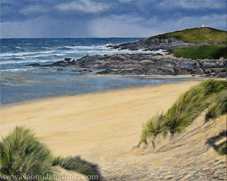 """""""Autumn Showers, Fistral"""" - SOLD"""