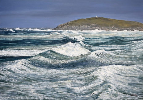 """""""Stormy Seas, Fistral"""" - SOLD"""