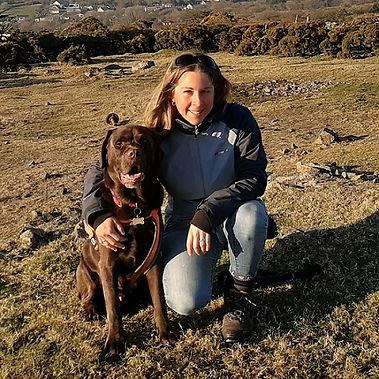 Naomi Jenkin with her chocolate labrador
