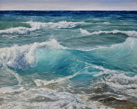 """""""Shades of Ocean Blue"""" - SOLD"""