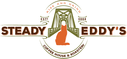 Steady Eddy logo Rise and Grind Bold fon