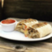 We have gourmet wraps, salads and panini