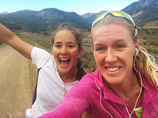 Sunday long run at 9000 ft! Great having teammates like _lucitapoblete to keep pushing me