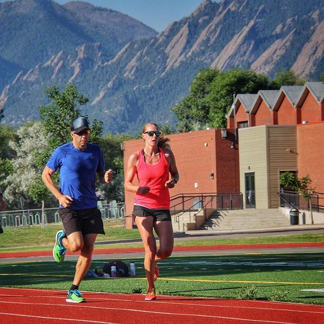 Lucky to have a coach who is always by my side, even when I'm crushing myself on the track! 😂 _thev