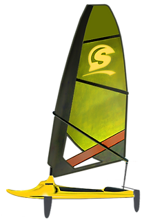 Surficat, IFS, amarillo, surfing de vela ligera, windsurfing, surf a vela, catamaran surf, Mothquito surf