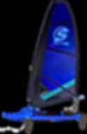 Surficat, IFS, azul, surfing de vela ligera, windsurfing, surf a vela, catamaran surf, Mothquito surf
