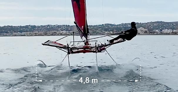 Mothquito, IFS, foiling, foiler, foils, hydrofoils, fly catamaran, regata foils, sailing, sail, manga dinámica, dynamic beam