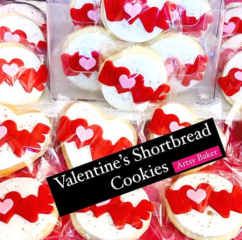 Valentine's Day Shortbread Cookies