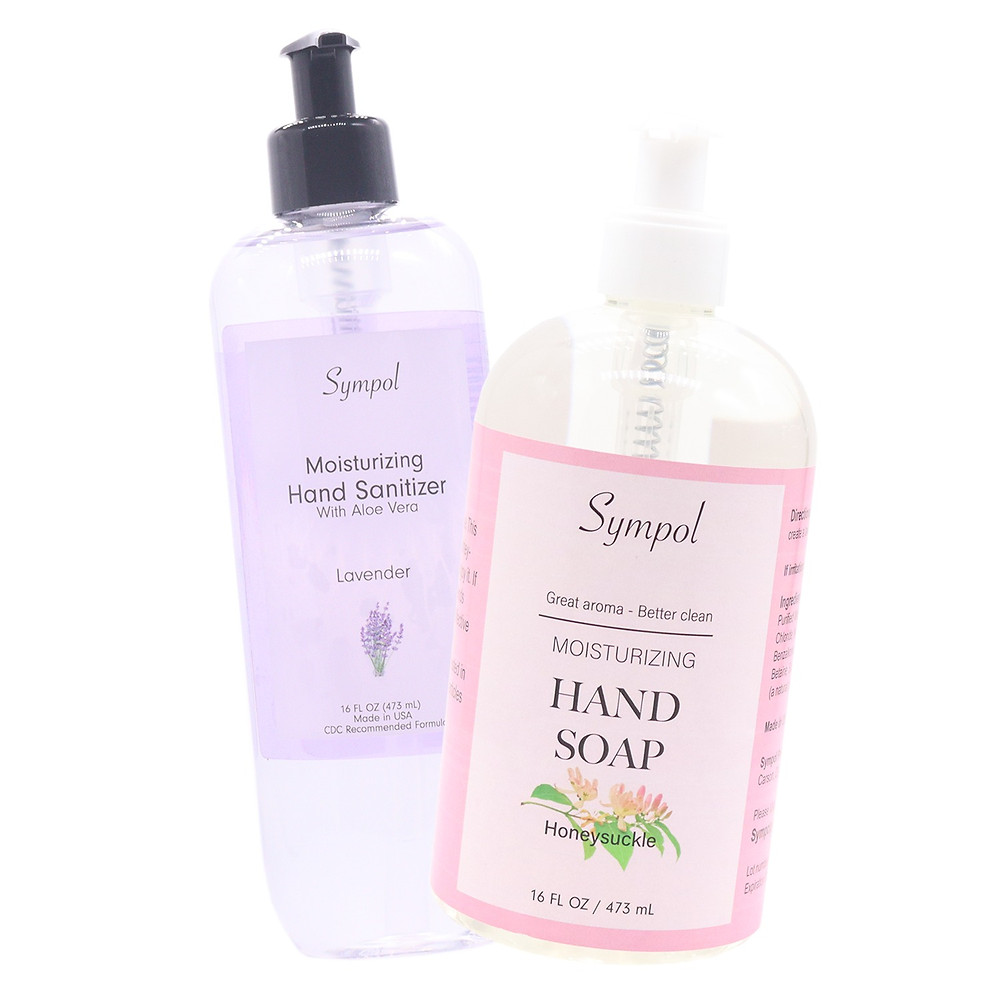 16oz hand sanitizer and hand soap bundle