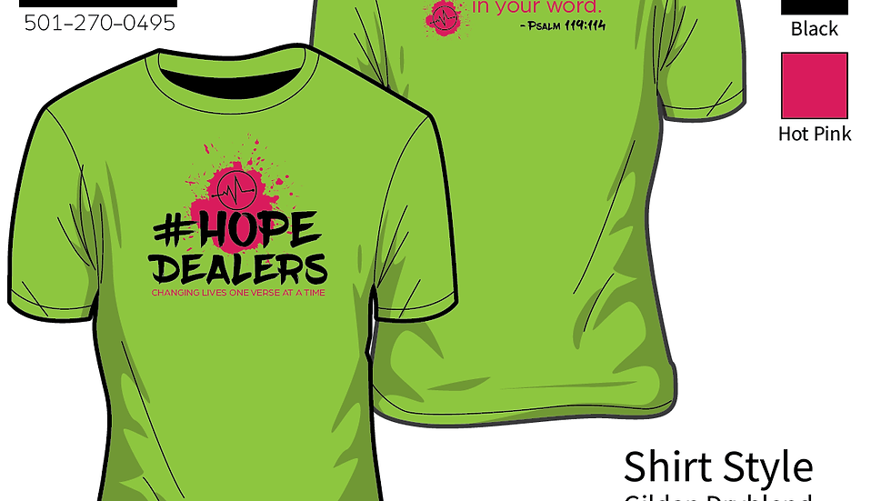 Lime Hope Dealers shirt